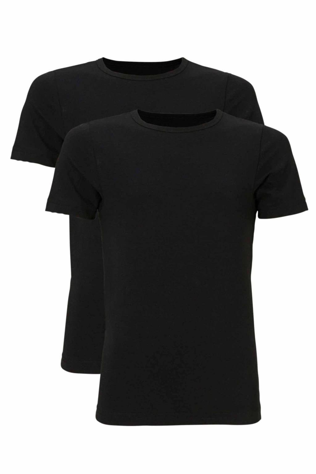 whkmp's own js T-shirt (set van 2), Zwart