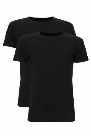T-shirt - set van 2 zwart