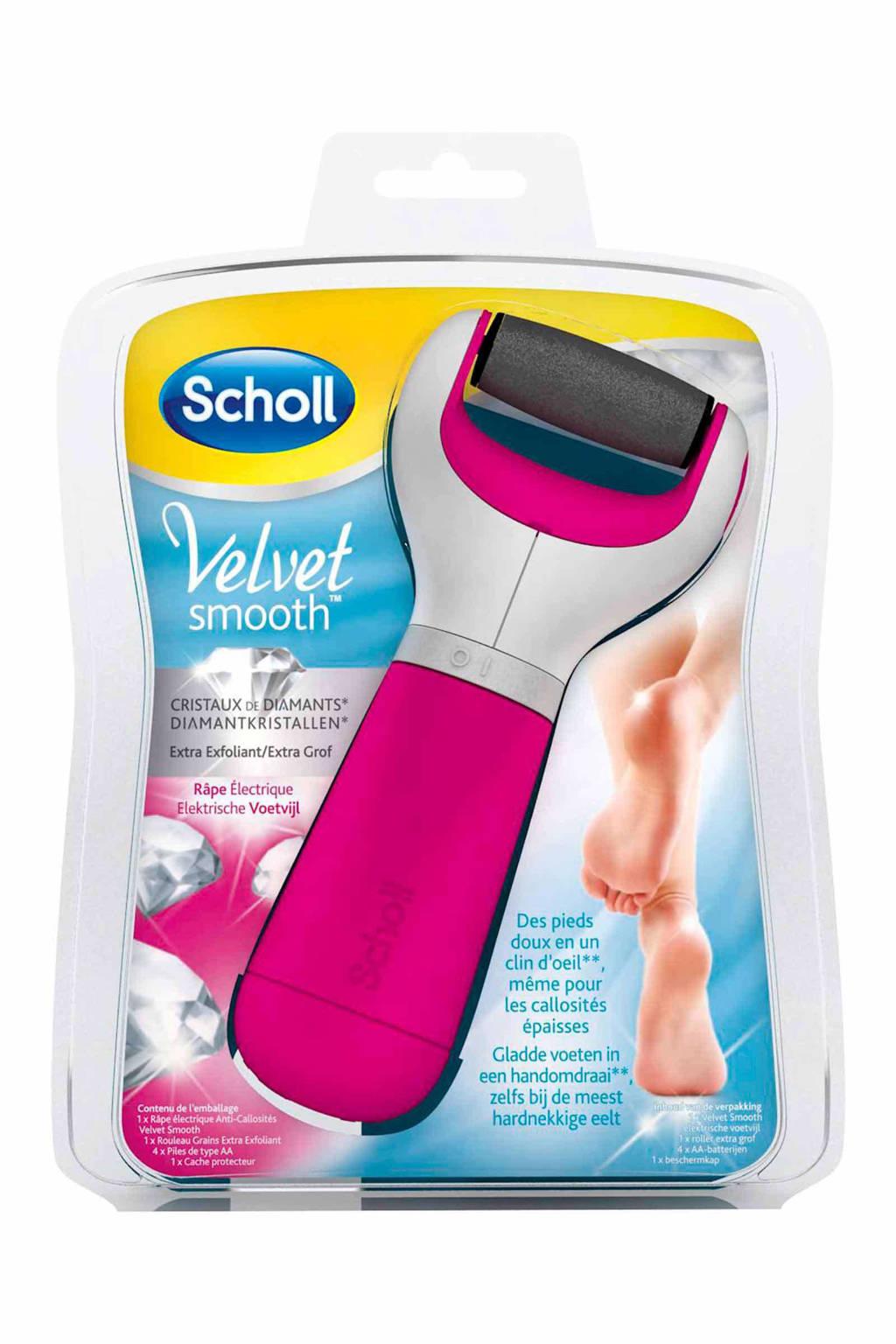Scholl Velvet Smooth  elektronische voetvijl - roze, Roze