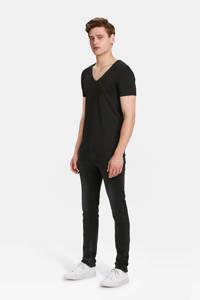 WE Fashion slim fit T-shirt, Black Uni