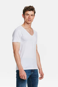 WE Fashion Fundamental slim fit T-shirt, White Uni