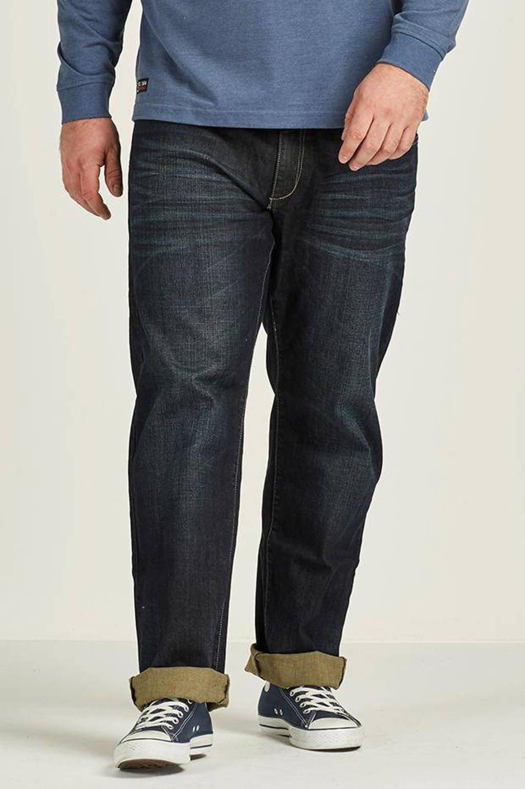 Replika +size regular fit jeans Mick, Dark blue washed