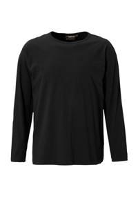 Replika +size longsleeve zwart, Zwart