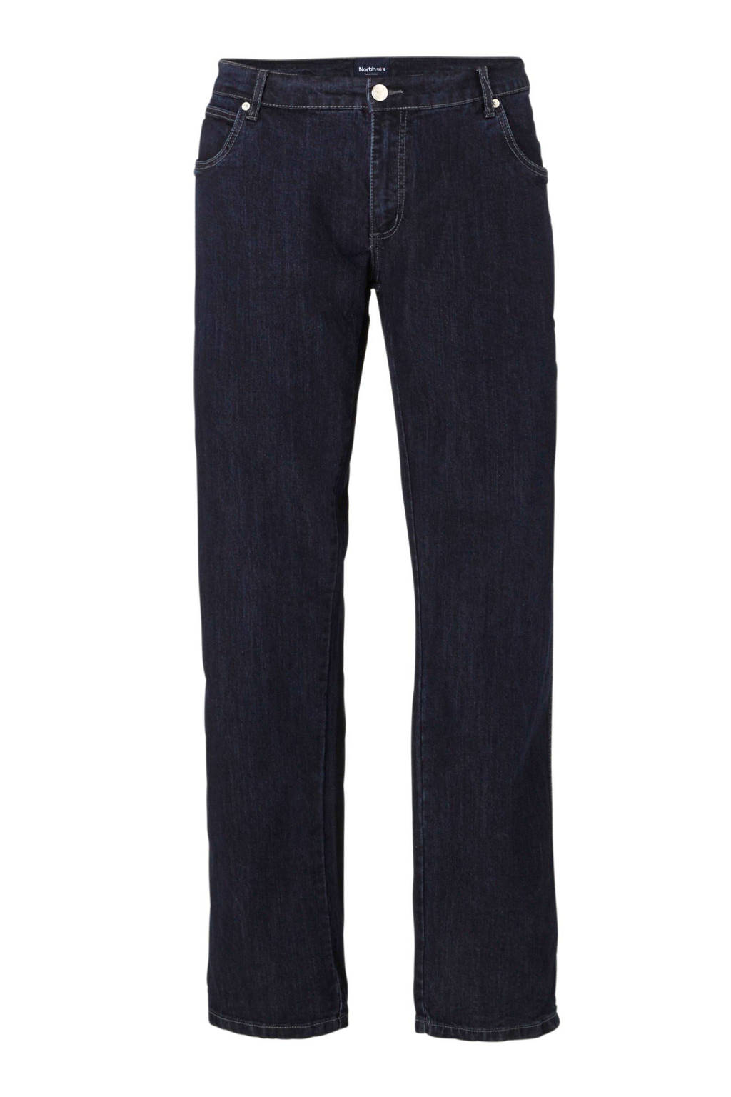 North 56°4 +size loose fit jeans, Blue stonewashed