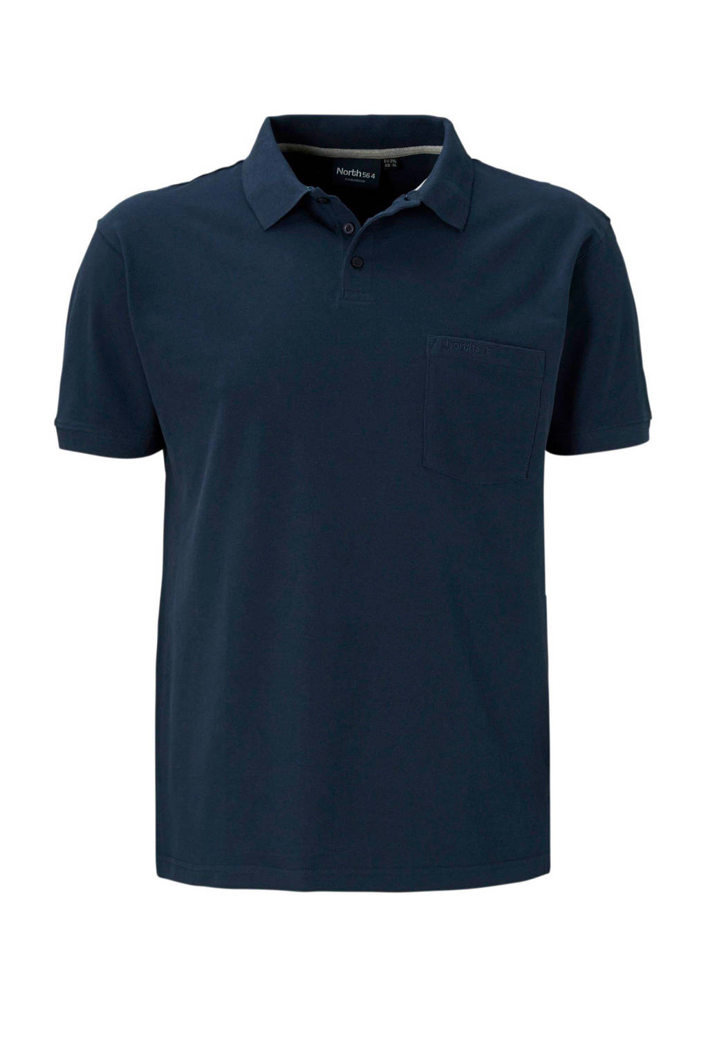 North 56°4 +size polo, Donkerblauw