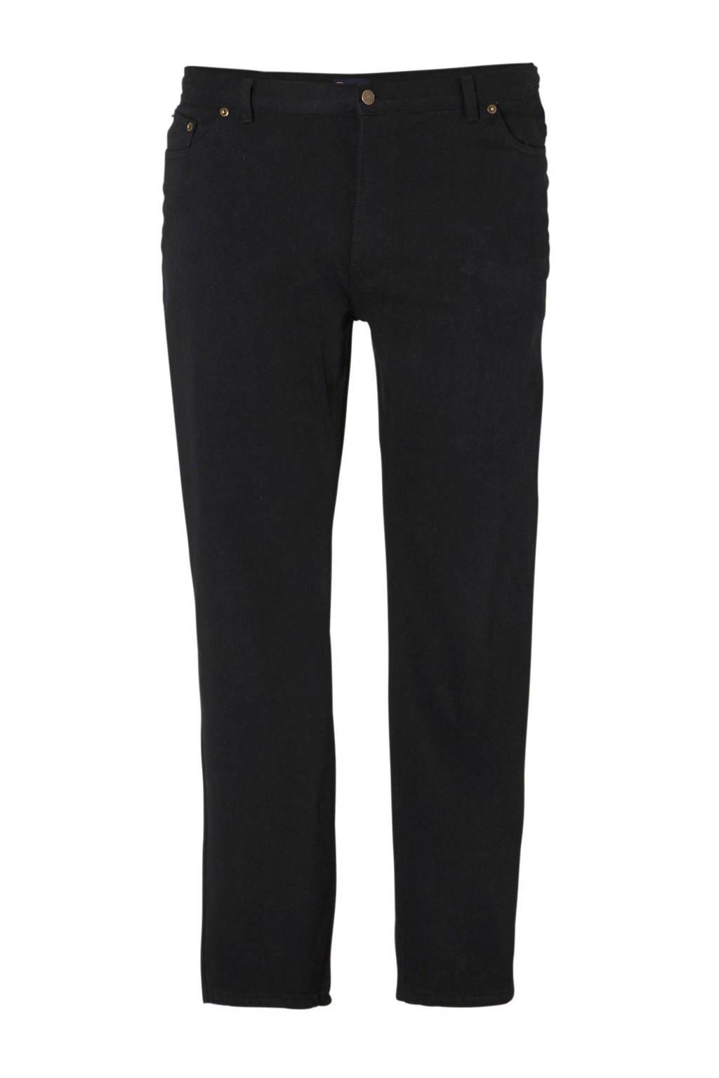 Rockford +size loose fit comfort jeans, Zwart