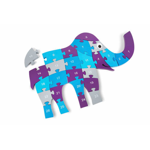 Grote houten olifant puzzel