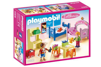 Dollhouse kinderkamer met stapelbed 5306
