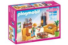 Dollhouse woonkamer met houtkachel 5308