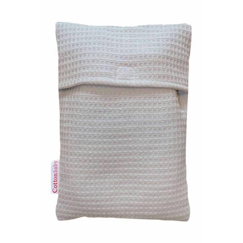 CottonBaby kruikenzak wafel lichtgrijs