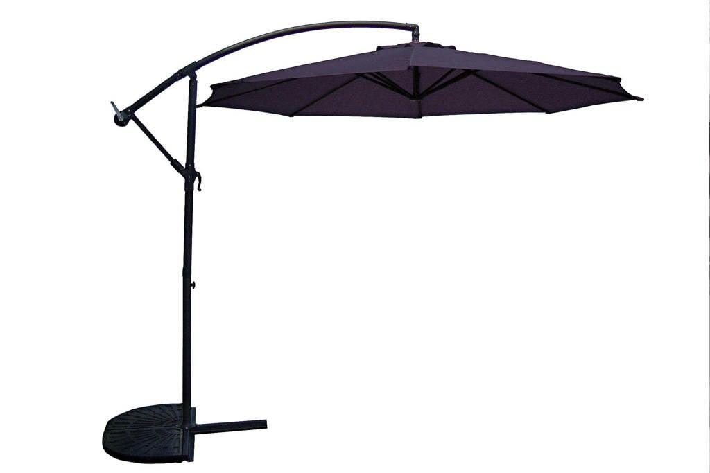 SenS-Line parasol Menorca (ø300 cm), Zwart