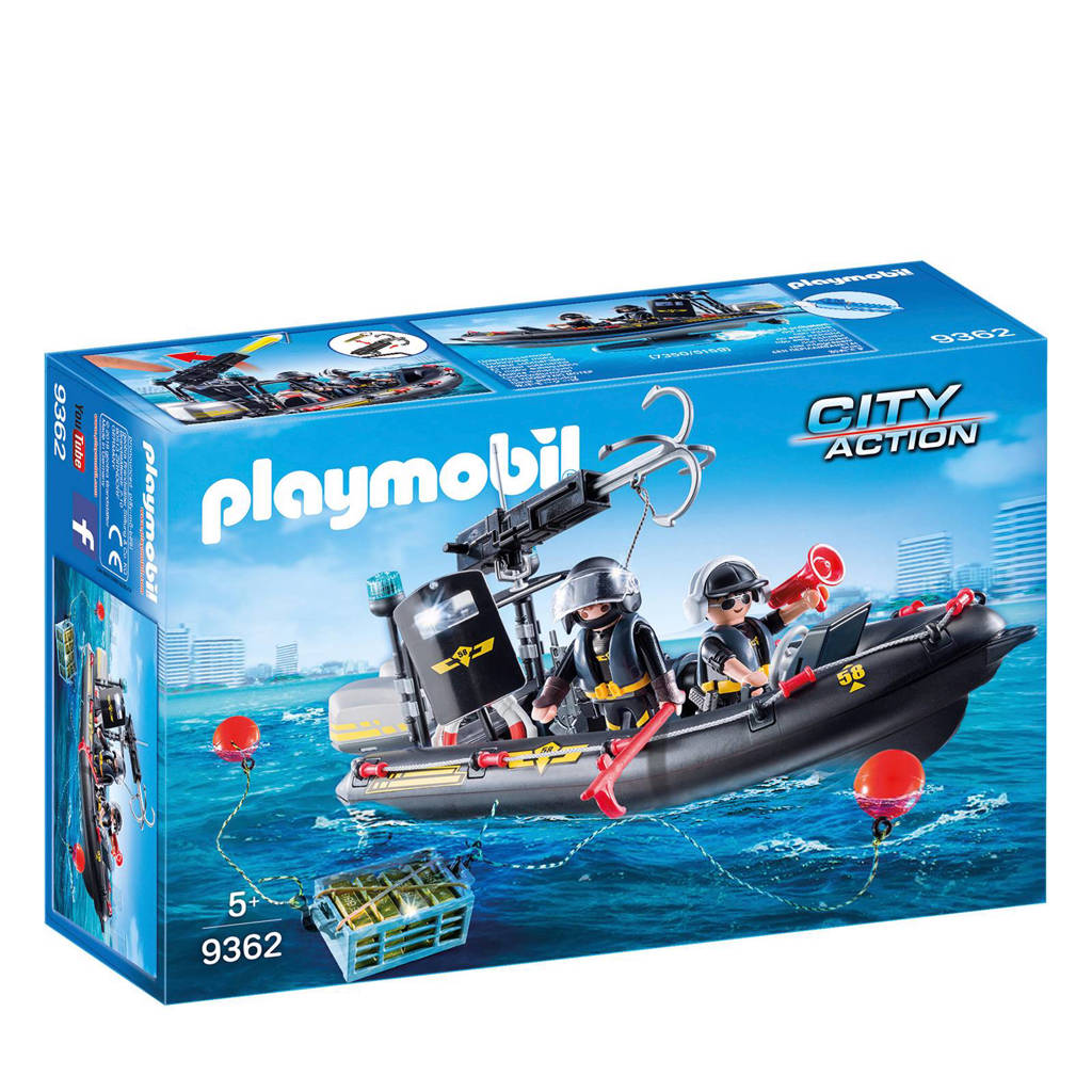 Playmobil City Action SIE-rubberboot 9362