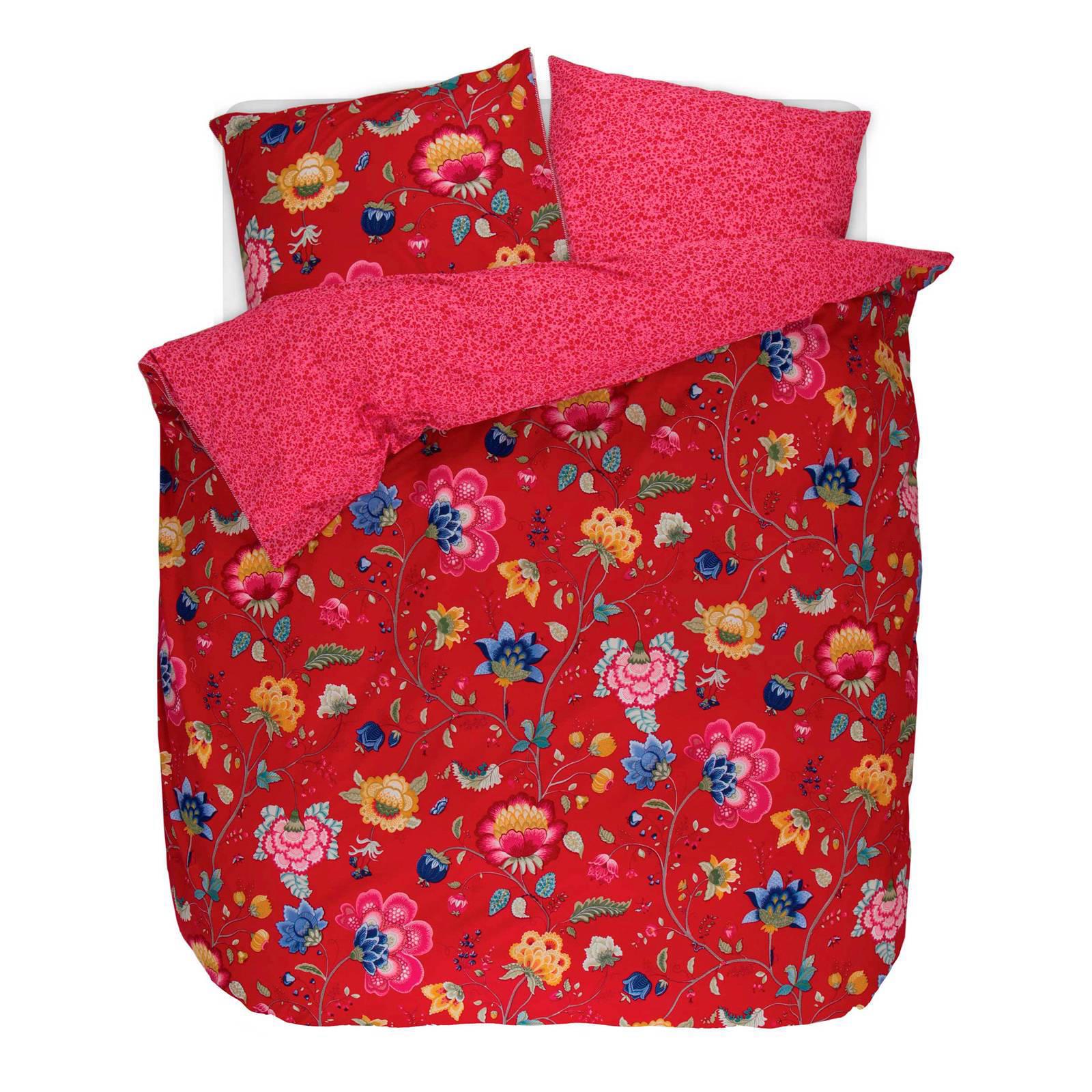 pip studio perkalkatoenen dekbedovertrek lits jumeaux rood