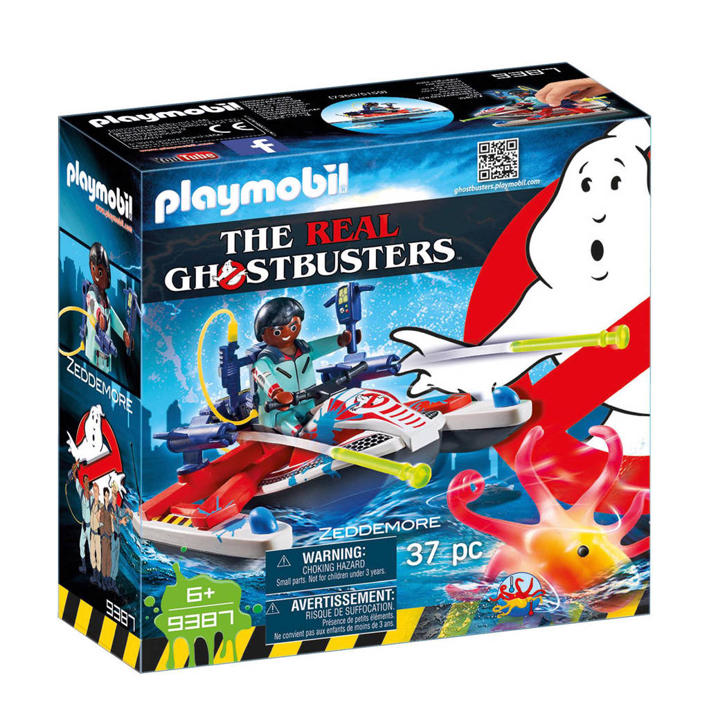 Playmobil Ghostbusters Zeddemore met waterscooter 9387