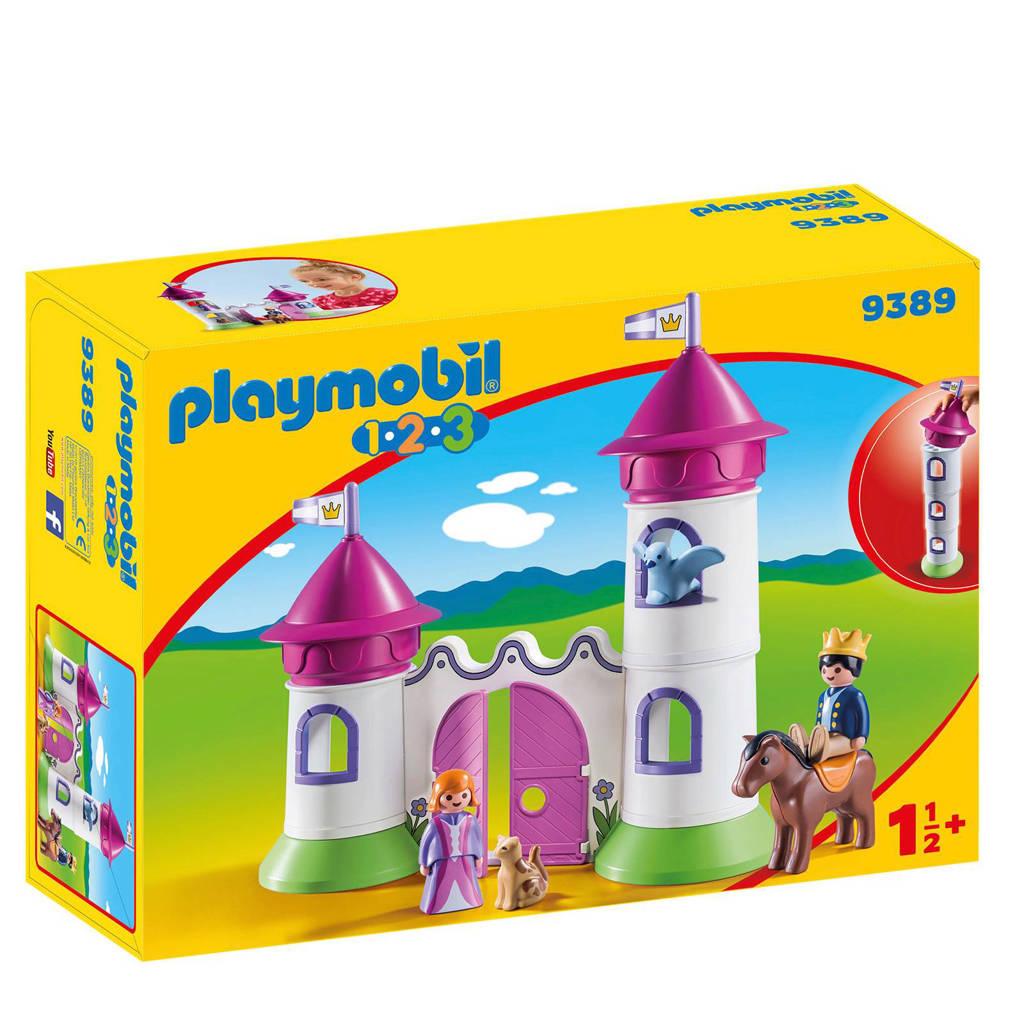 Playmobil 1-2-3 kasteelpoort met koningskoppel 9389