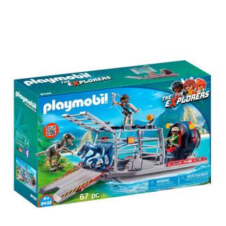 Dinos luchtkussenboot met dinokooi 9433