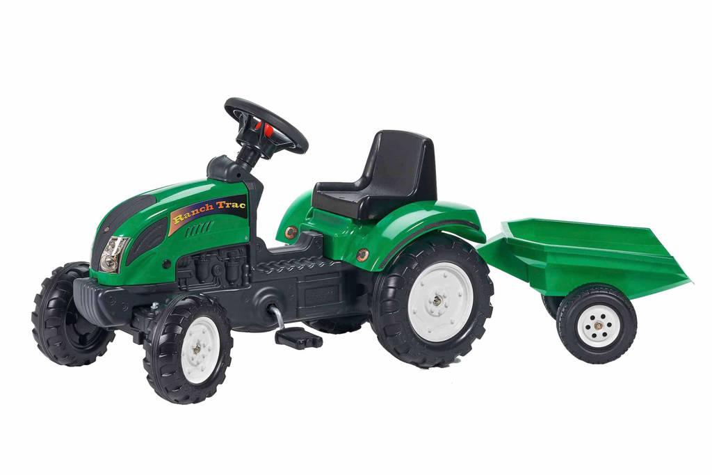 Falk tractor met aanhanger Ranch