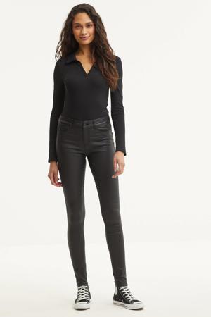 coated broek Seven zwart