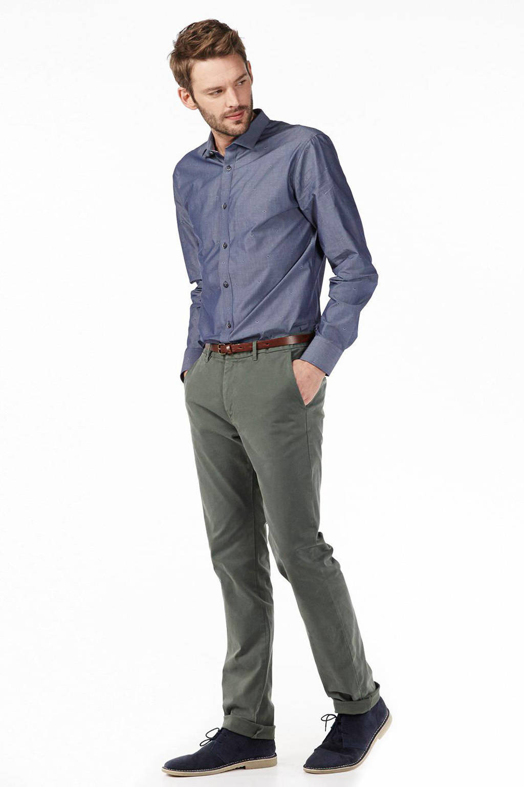Scotch & Soda chino Stuart, Grijs