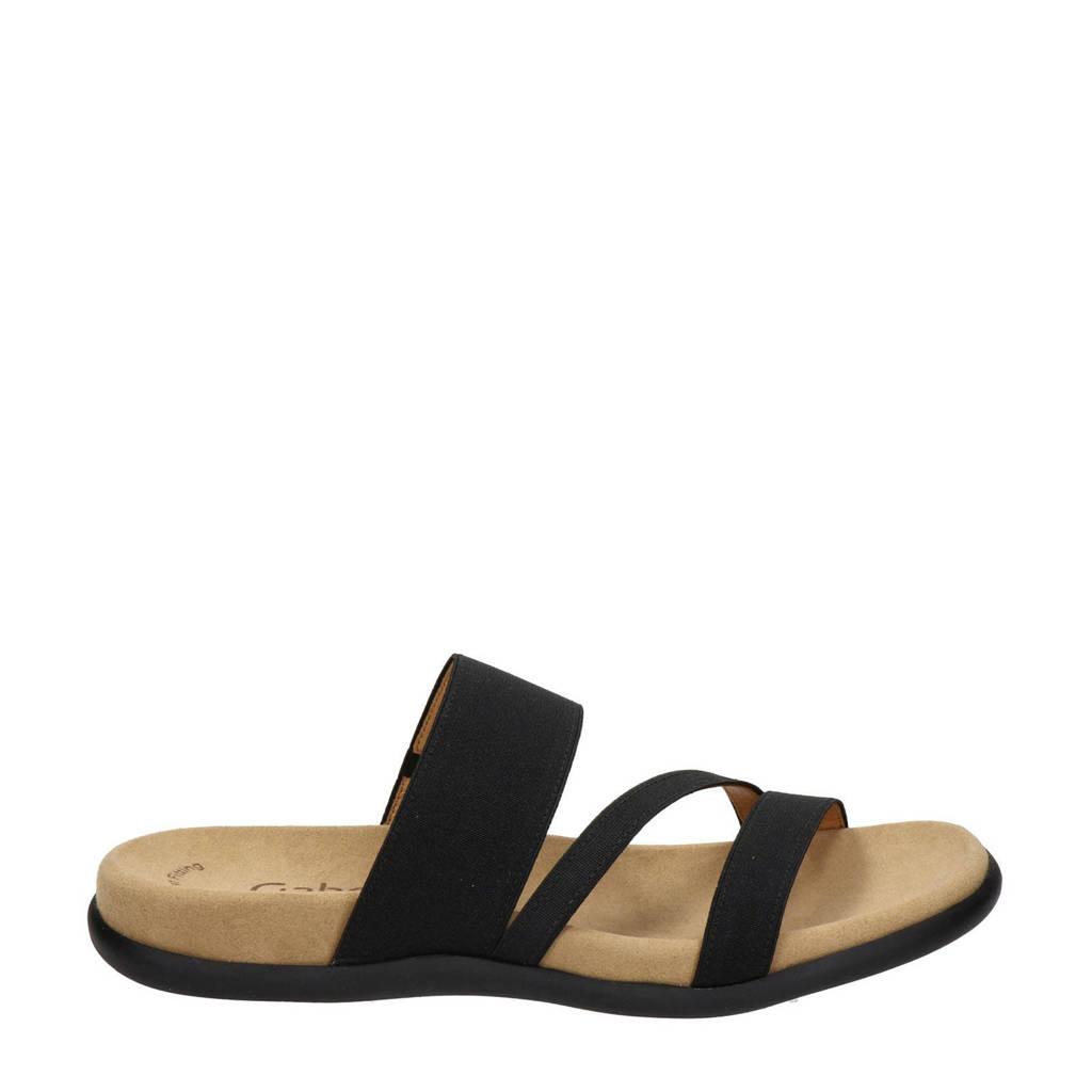 Gabor slippers zwart, Zwart