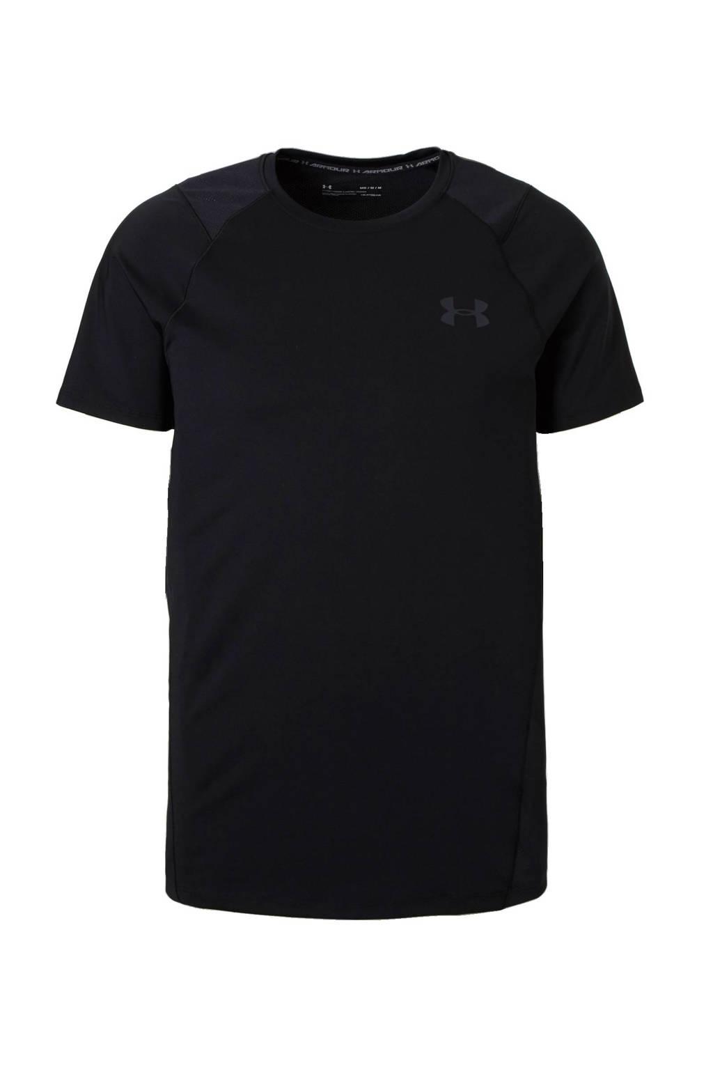 Under Armour   sport T-shirt zwart, Zwart