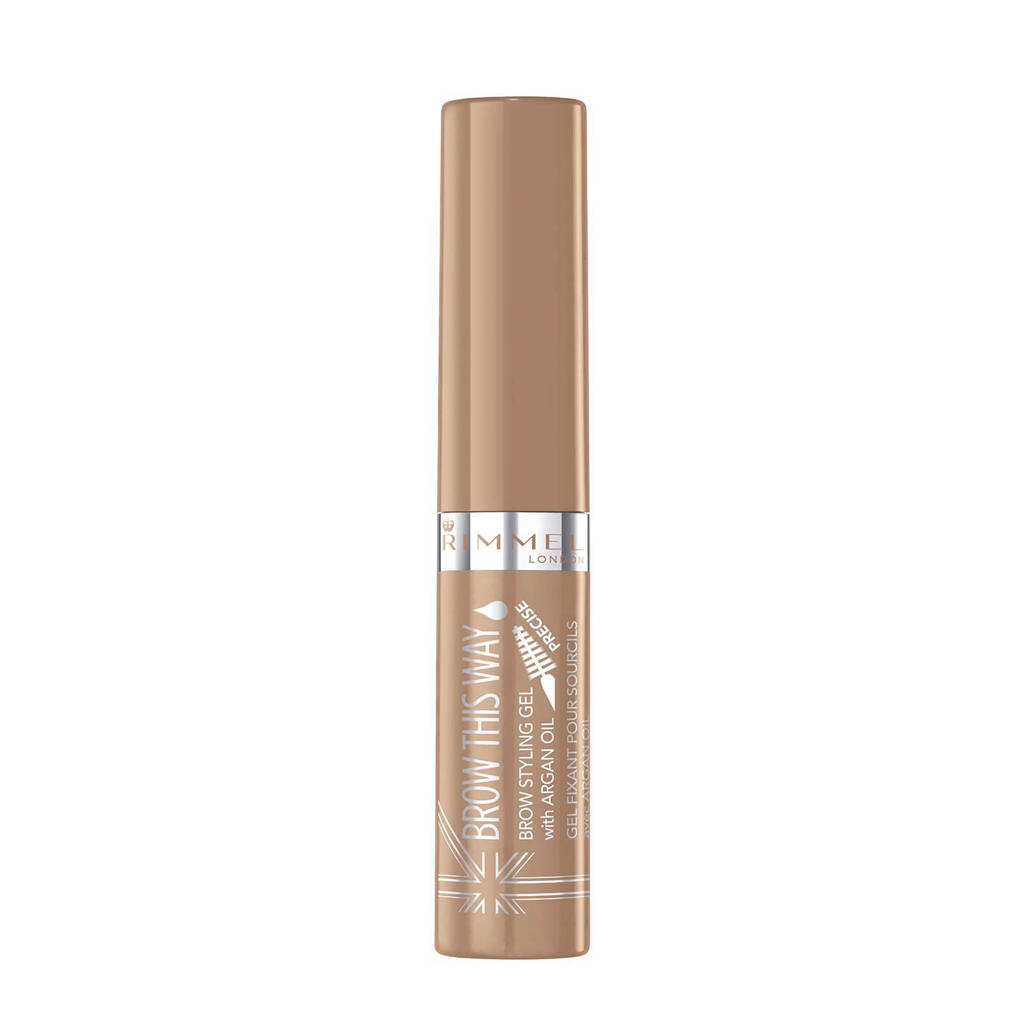 Rimmel London wenkbrauwgel met araganolie - 001 Blonde