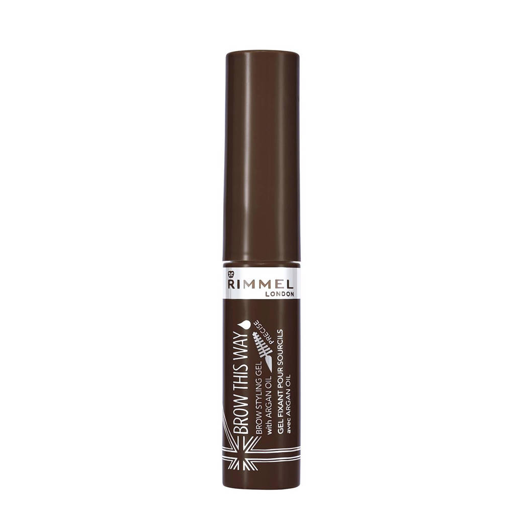 Rimmel London wenkbrauwgel met araganolie - 003 Dark Brown