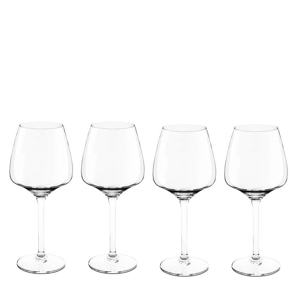 Royal Leerdam Wijnglazen.Royal Leerdam Finesse Experts Collection Rode Wijnglas Set Van 4