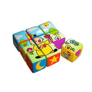 stoffen blokken  blokpuzzel 9 stukjes