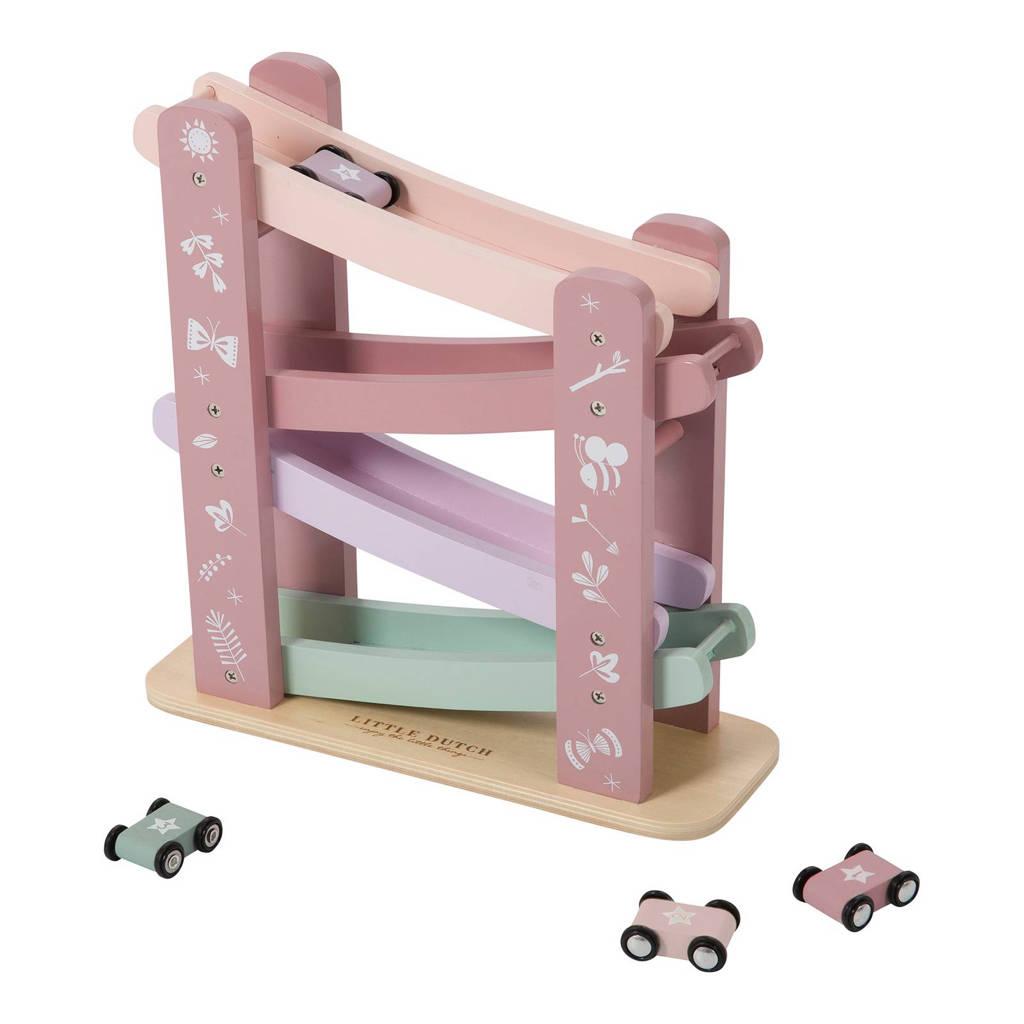 Little Dutch houten autobaan pink, Roze