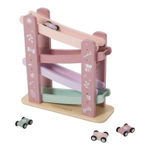 houten autobaan pink
