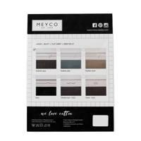 Meyco Feathers wieglaken 75x100 cm grijs, Grijs
