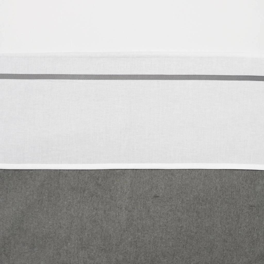 Meyco ledikantlaken met bies 100x150 cm wit/grijs, Grijs