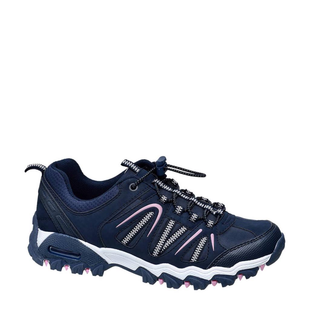 vanHaren Landrover  sneakers donkerblauw, Donkerblauw/wit