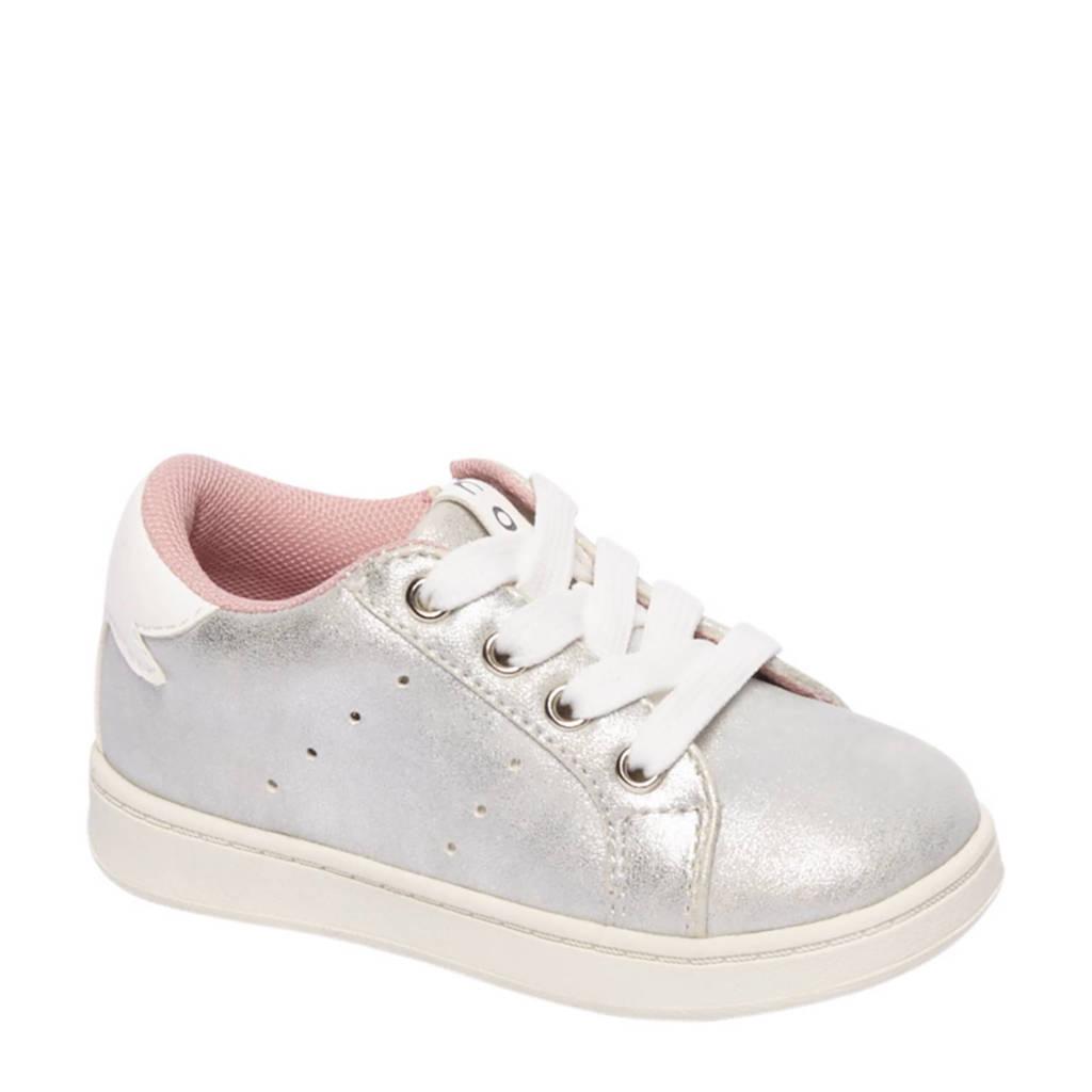 vanHaren Cupcake Couture  metallic sneakers, Zilver/wit