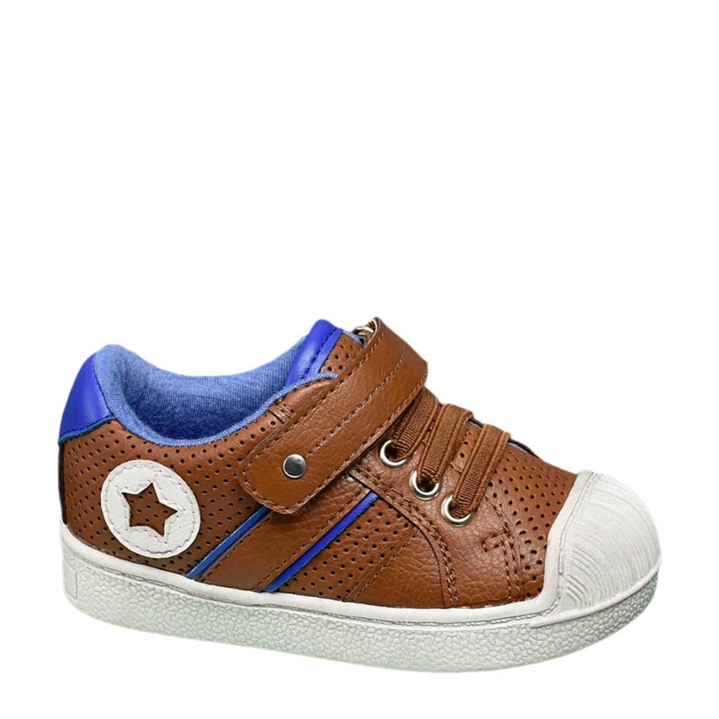 vanHaren Bobbi-Shoes  sneakers, Bruin/blauw/wit