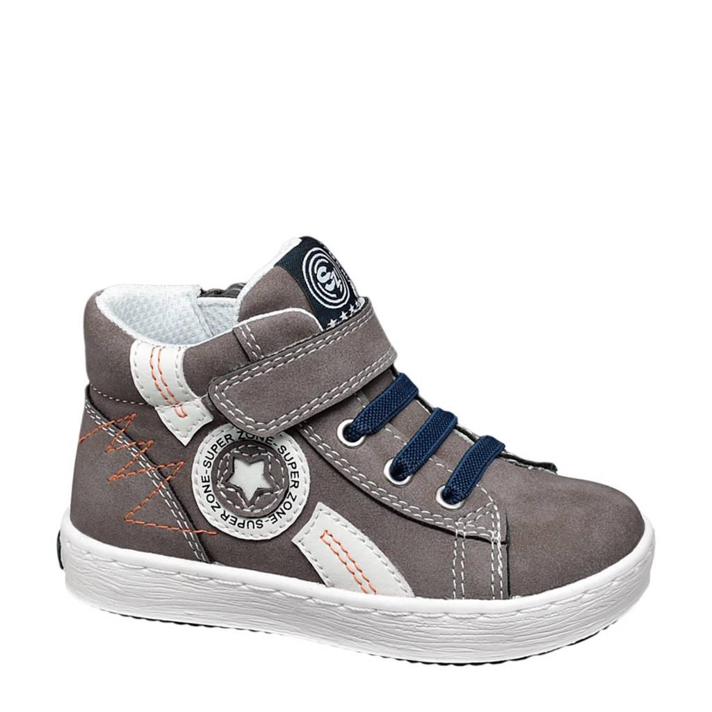 vanHaren Bobbi-Shoes  sneakers, Antraciet/wit/donkerblauw/oranje