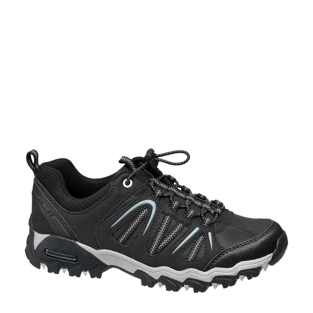 vanHaren Landrover   wandelschoenen zwart, Zwart/wit