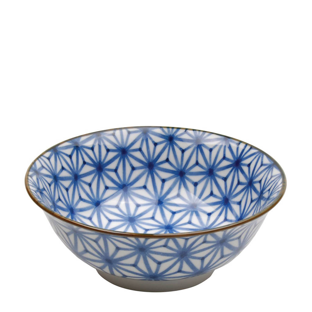 Tokyo Design Studio Mixed Bowls schaal (Ø20,5 cm), Blauw/wit