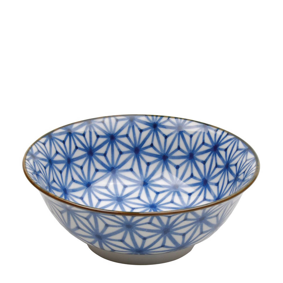 Tokyo Design Studio Mixed Bowls schaal (Ø20,5 cm) , Blauw/wit