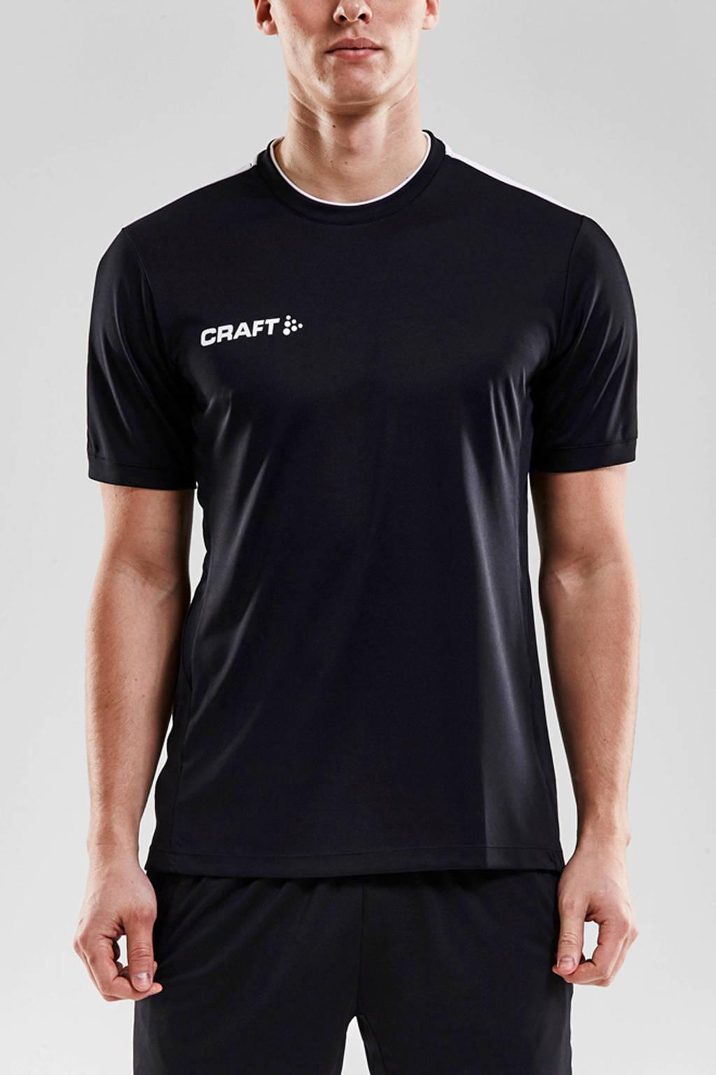Craft Senior  sport T-shirt zwart/wit, Zwart/wit