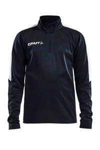 Craft   sportsweater, Zwart/wit, Jongens/meisjes