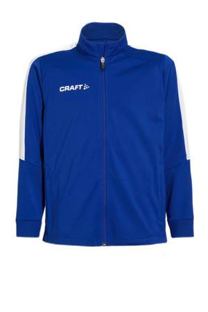 Junior  sportvest blauw
