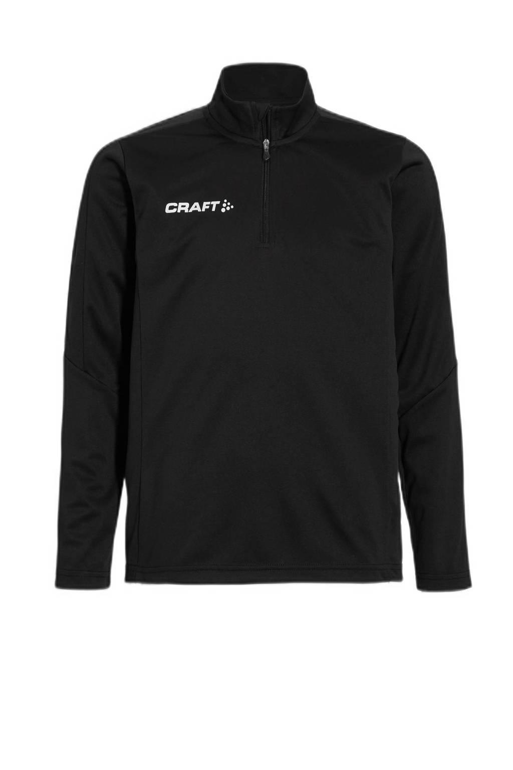 Craft   sportsweater, Zwart, Jongens/meisjes