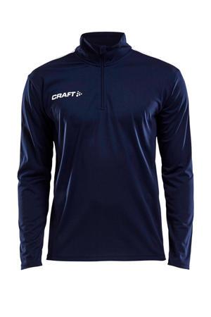 Senior  sport T-shirt donkerblauw