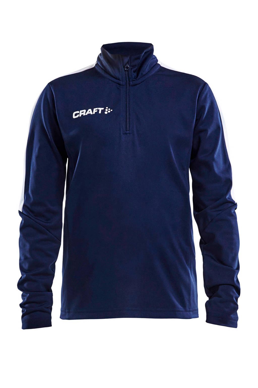 Craft   sportsweater, Donkerblauw, Jongens/meisjes