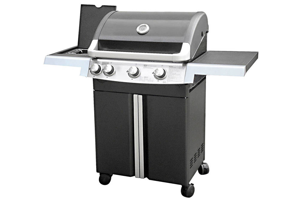 Garden Grill Experience 3+1 Nero gasbarbecue, Zwart/RVS