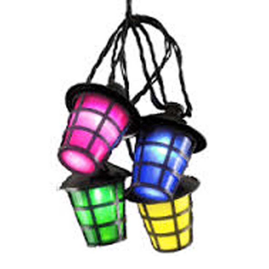 Konstsmide 24V lichtsnoer (20 lantaarns), Multicolor