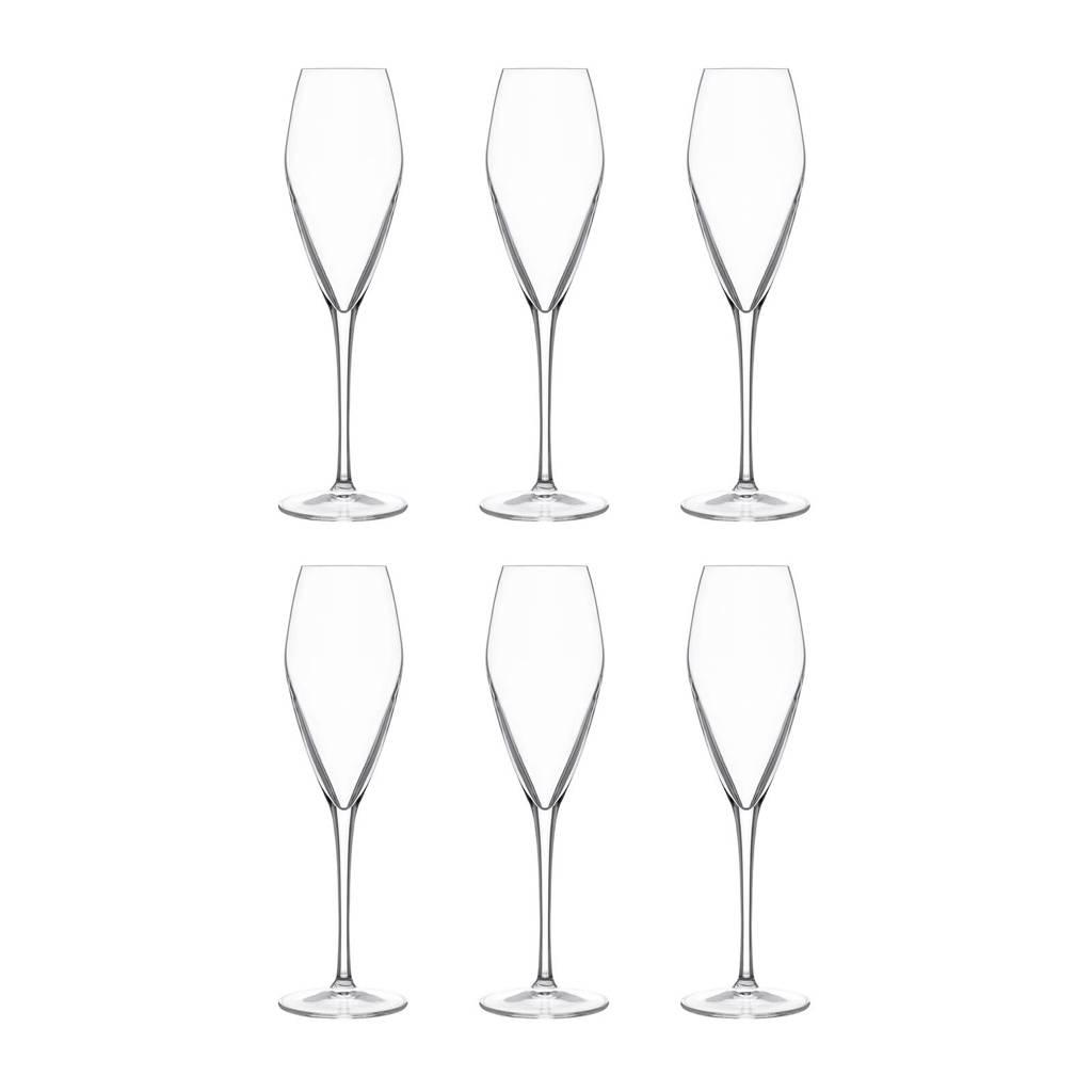 Luigi Bormioli Atelier champagneglas (Ø7,5 cm) (set van 6), Transparant