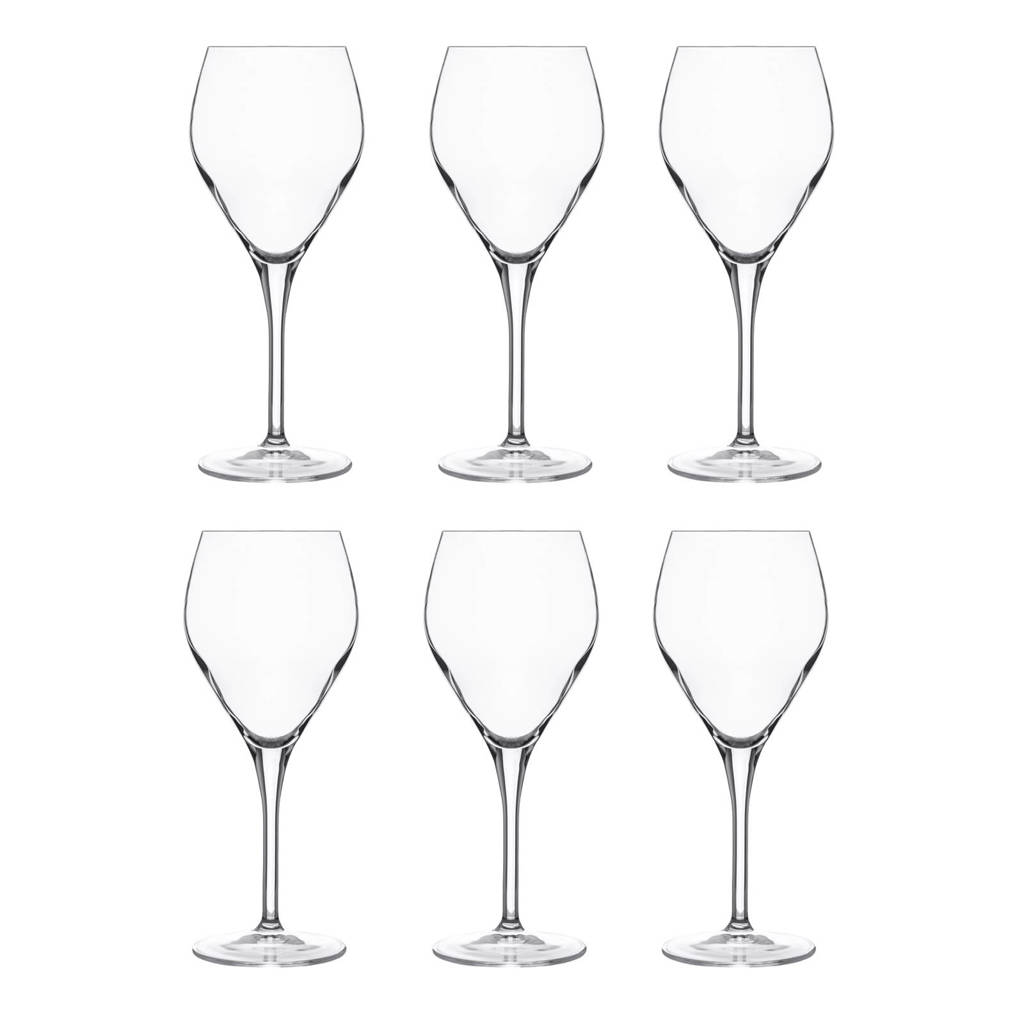 Luigi Bormioli Atelier witte wijnglas (Ø8,5 cm) (set van 6), Transparant